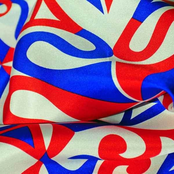 "PATRIOTIC SILK SCARF - 36x36"" - Scarves by Mary DeArment - 2"
