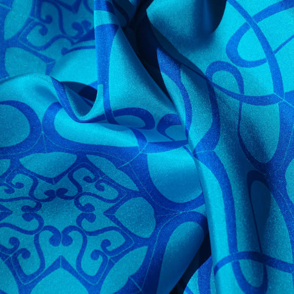 "CARIBBEAN SILK SCARF - 36x36"" - Scarves by Mary DeArment - 2"