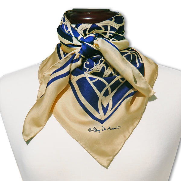 "MOTHER'S DAY SILK SCARF - 36x36"" - Scarves by Mary DeArment - 1"