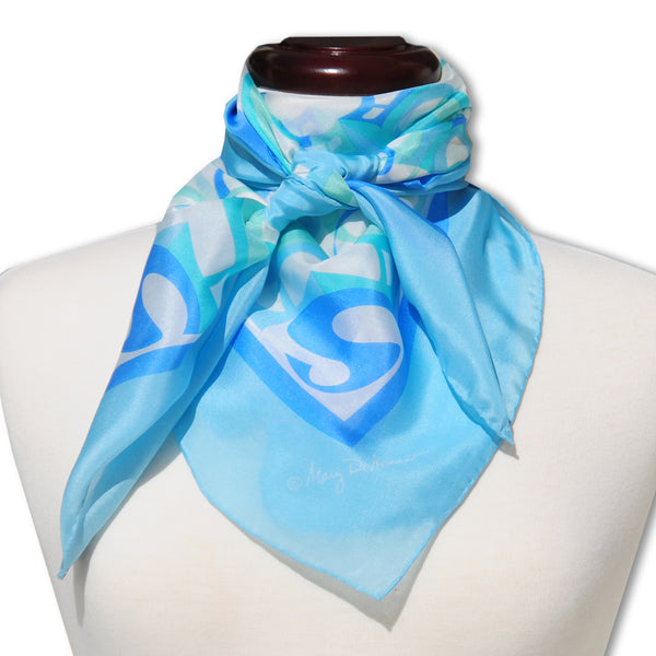 "BEACH RESORT SILK SCARF - 36x36"" - Scarves by Mary DeArment - 1"
