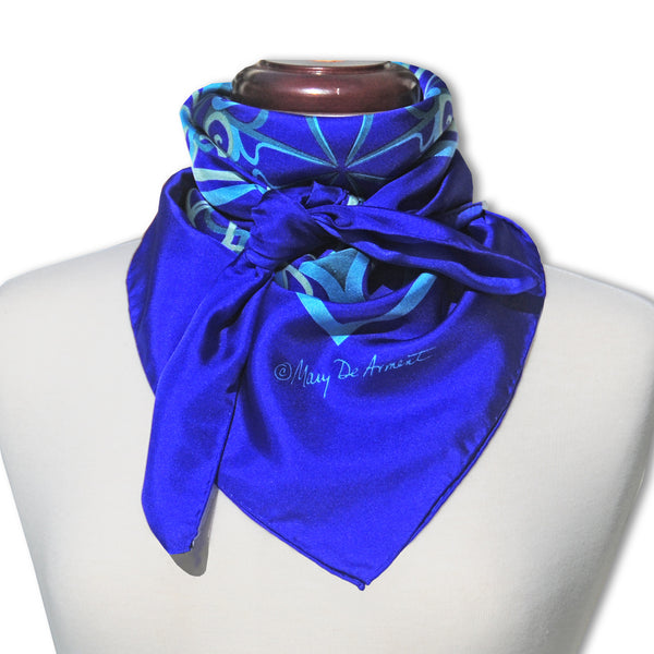 "CANNON BEACH CITY SILK SCARF - 36x36"" - Scarves by Mary DeArment - 1"