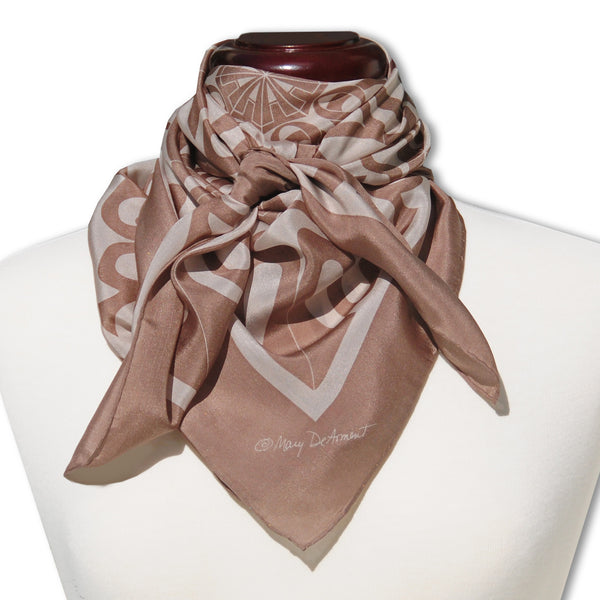"SARASOTA CITY SILK SCARF - 36x36"" - Scarves by Mary DeArment - 1"