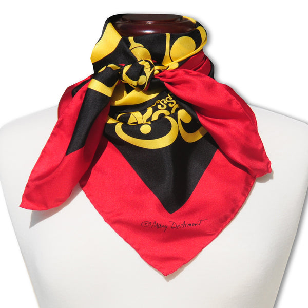 "CIRCUS CELEBRATION SILK SCARF - 36x36"" - Scarves by Mary DeArment - 1"