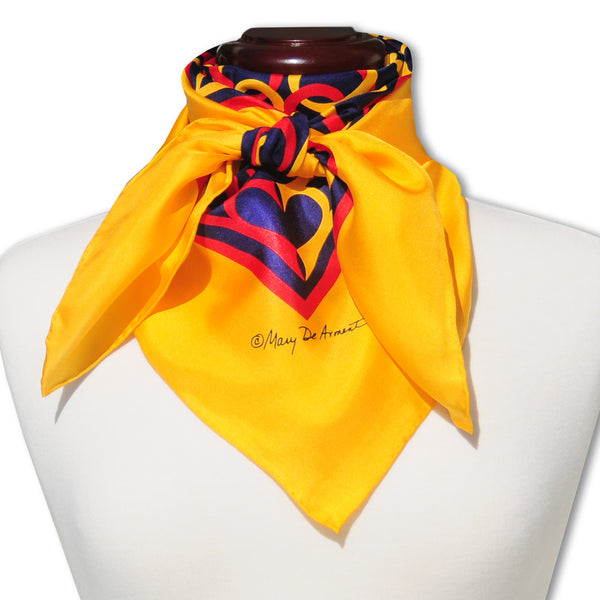 "REGATTA SILK SCARF - 36x36"" - Scarves by Mary DeArment - 1"