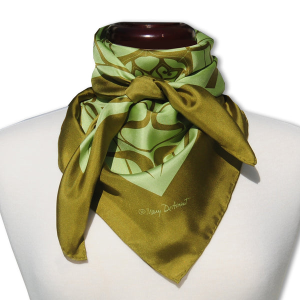 "THANK YOU SILK SCARF - 36x36"" - Scarves by Mary DeArment - 1"