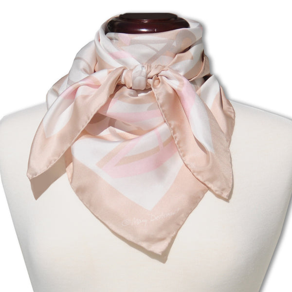 "AMELIA ISLAND SILK SCARF - 36x36"" - Scarves by Mary DeArment - 1"