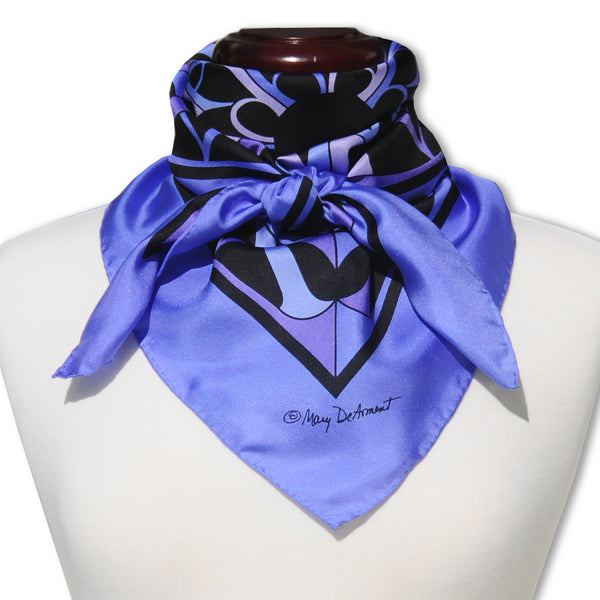 "KIAWAH ISLAND CITY SILK SCARF - 36x36"" - Scarves by Mary DeArment - 1"