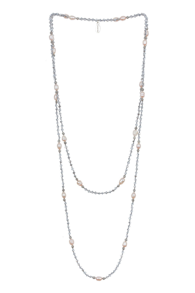 Pearl Layering Long Necklace in Clear