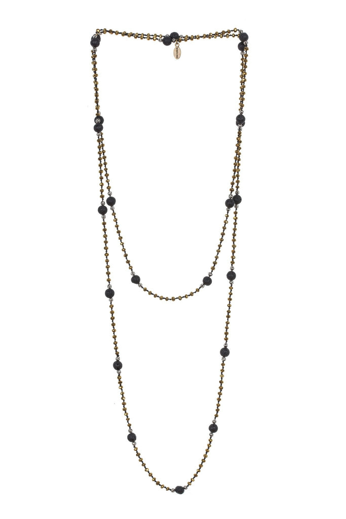 Lava Layering Long Necklace in Gold