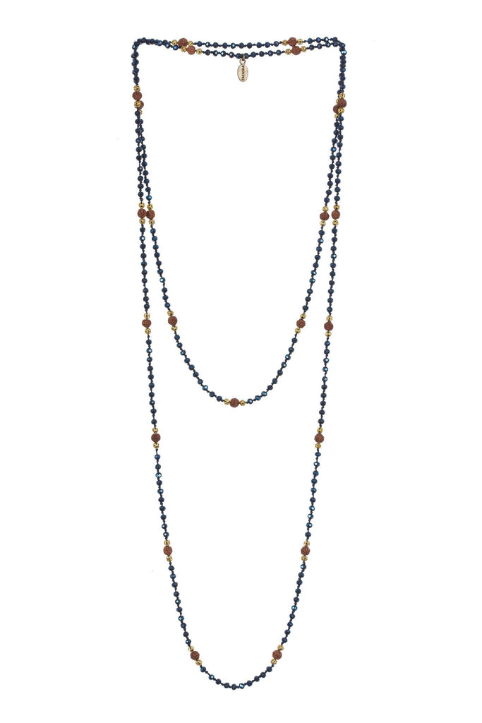 Ganitri Layering Long Necklace in Blue