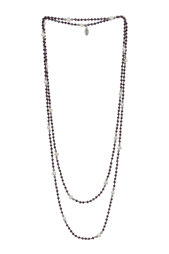 Pearl Layering Long Necklace in Ivy