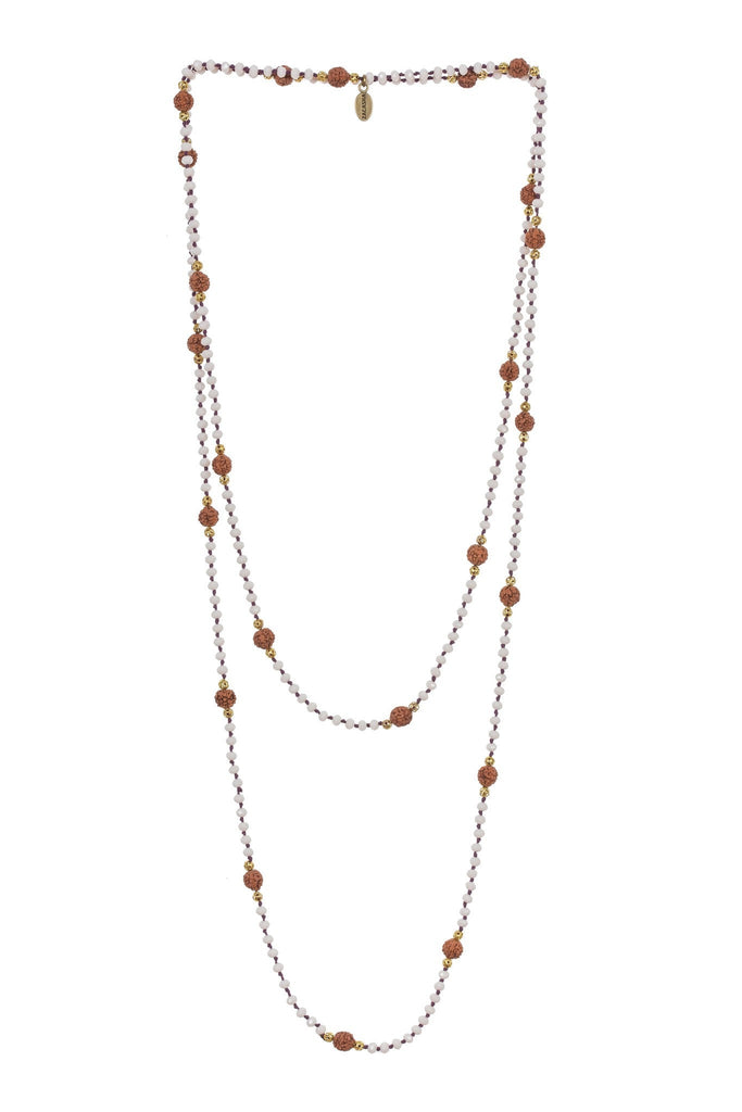 Ganitri Layering Long Necklace in White