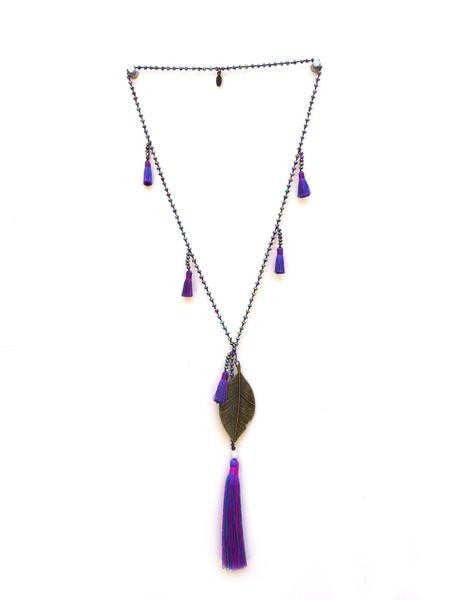 Feather Multi Tassels Necklace