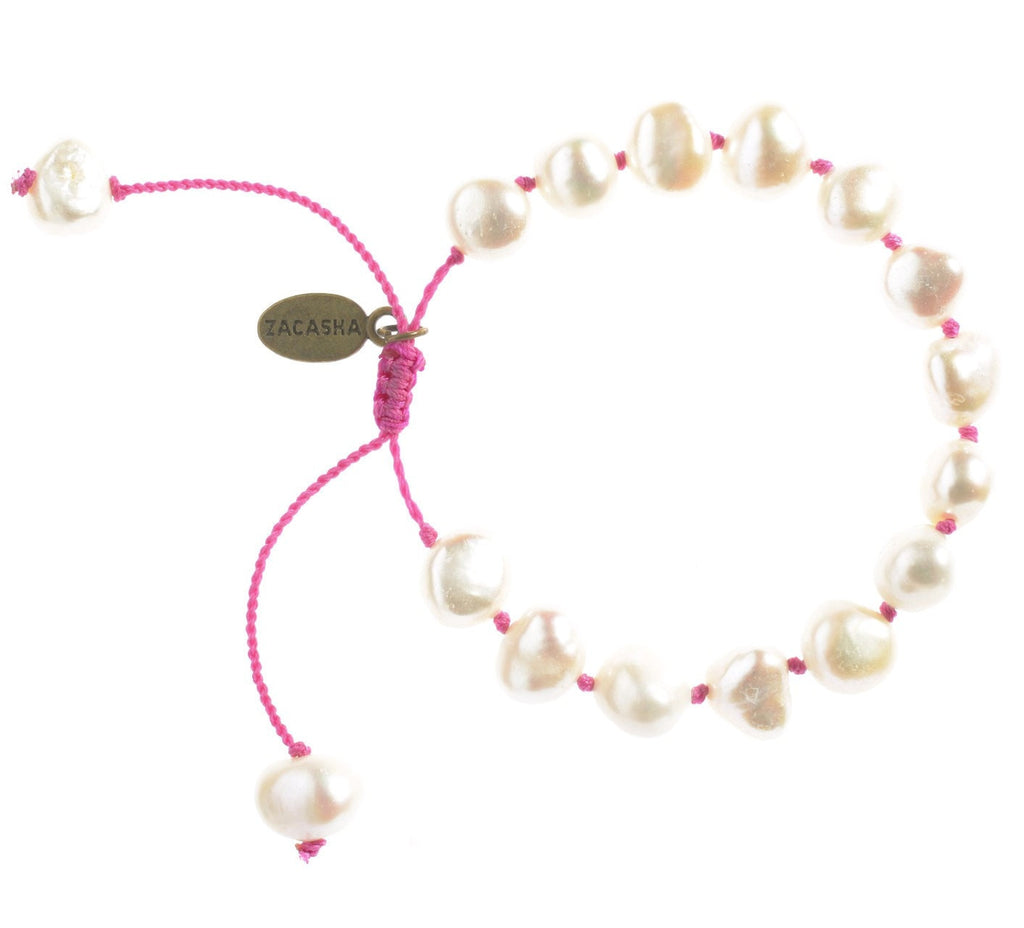 Fresh Water Pearl Bracelet in Mulberry