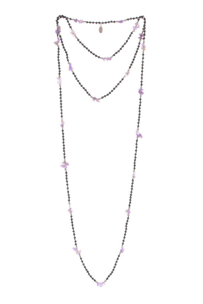 Amethyst Layering Long Necklace