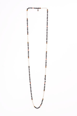 Onyx Layering Long Necklaces