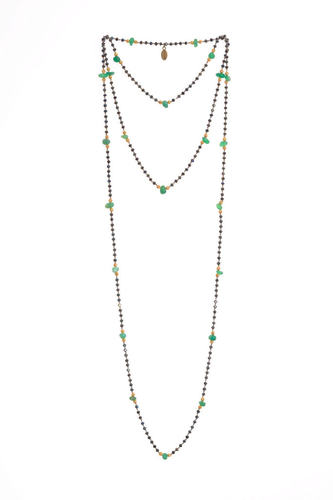 Aventurine Layering Long Necklace