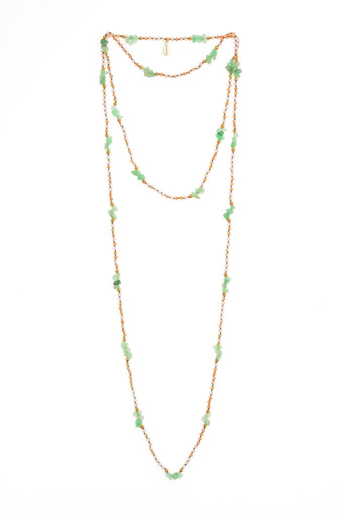 Jade Layering Long Necklace in Tie-Dye