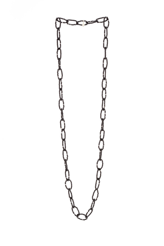 Crystal Loop Necklace in Black