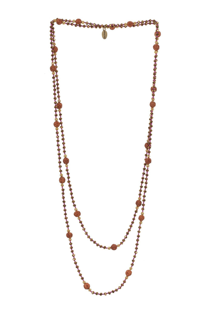 Ganitri Layering Long Necklace in Bronze