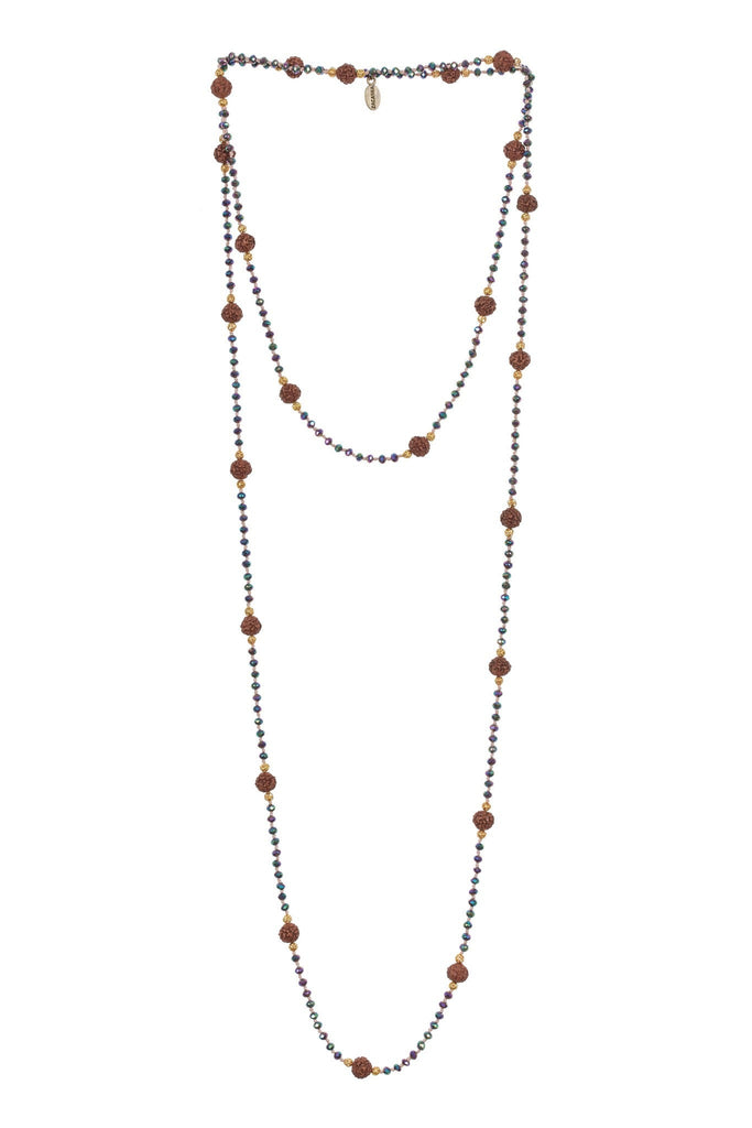 Ganitri Layering Long Necklace in Ivy