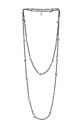 Lava Layering Long Necklace in Clear