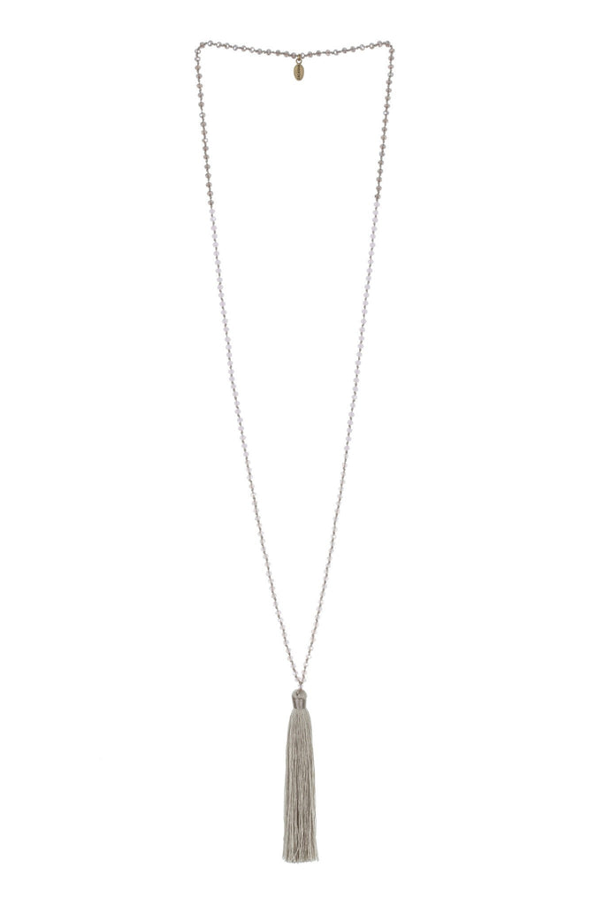 Tassel Necklace In Taupe