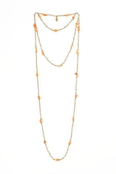 amber layering necklace