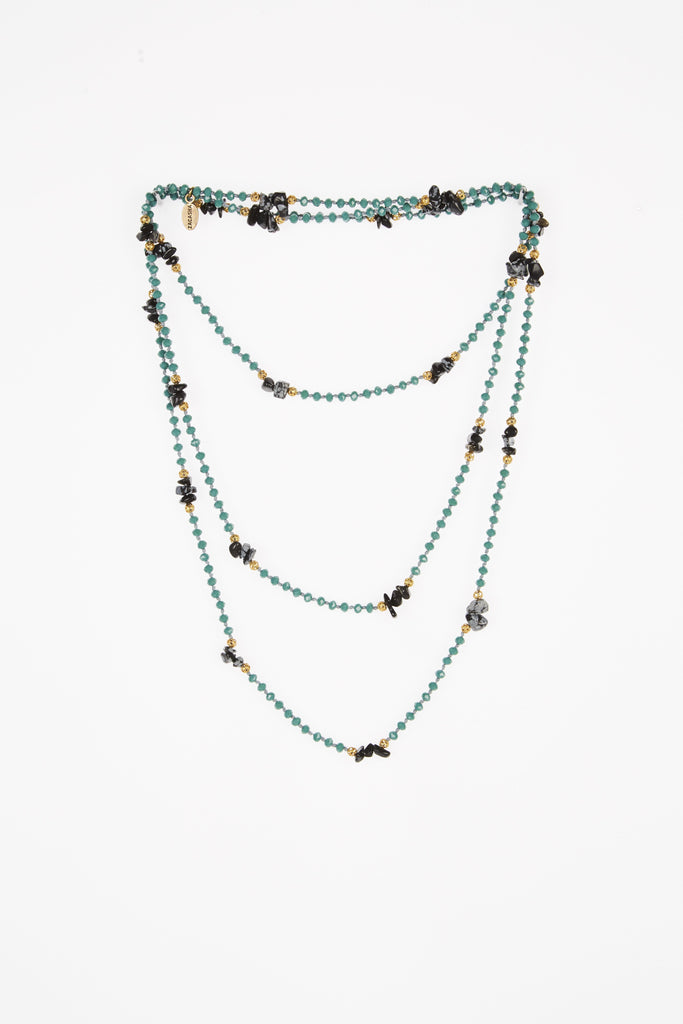 Turquoise Layering Necklace with Onyx