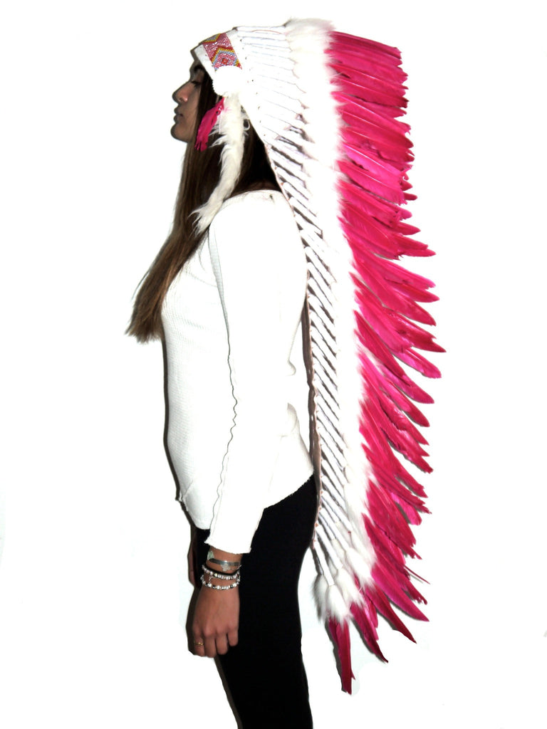 Headdress long in Pink