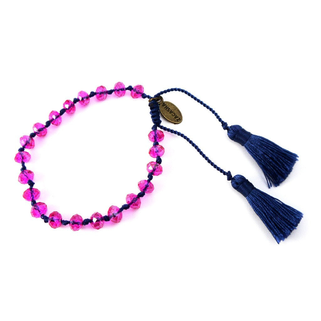 Crystal Bracelet in Navy