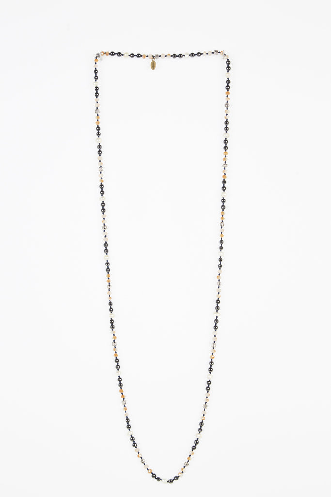 Tie Dye Premium Layering Necklace with Pearl