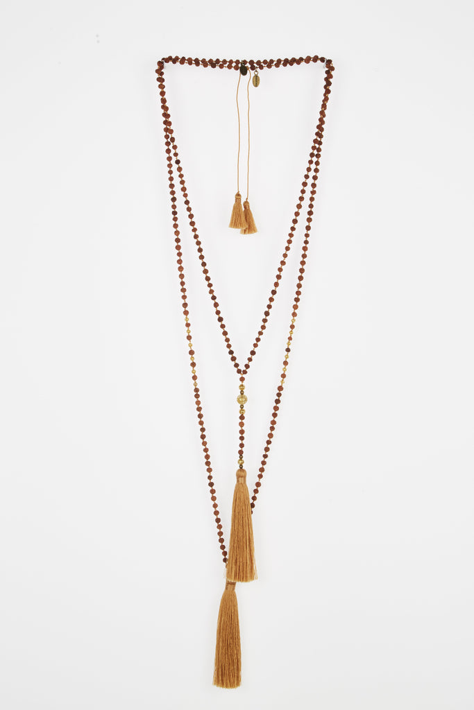 COPPER GANITRI ROSARIO SET WITH GOLD BEADS