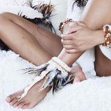 Anklet Toe Loop with Feather