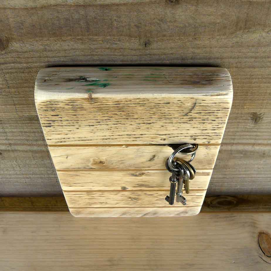 Handmade Wooden Key Holder - Reclaimed Wood, Wall Mounted Storage ...