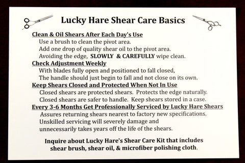 Shear Care Card