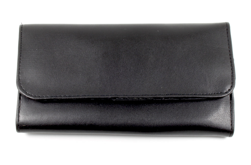 Case LC-9 Six Shear Black Leather Trifold Case