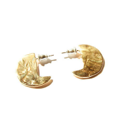 Odette / Disc Earrings in Brass