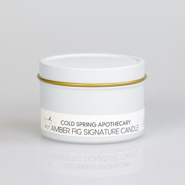 Cold Spring Apothecary / Amber Fig Signature Travel Candle