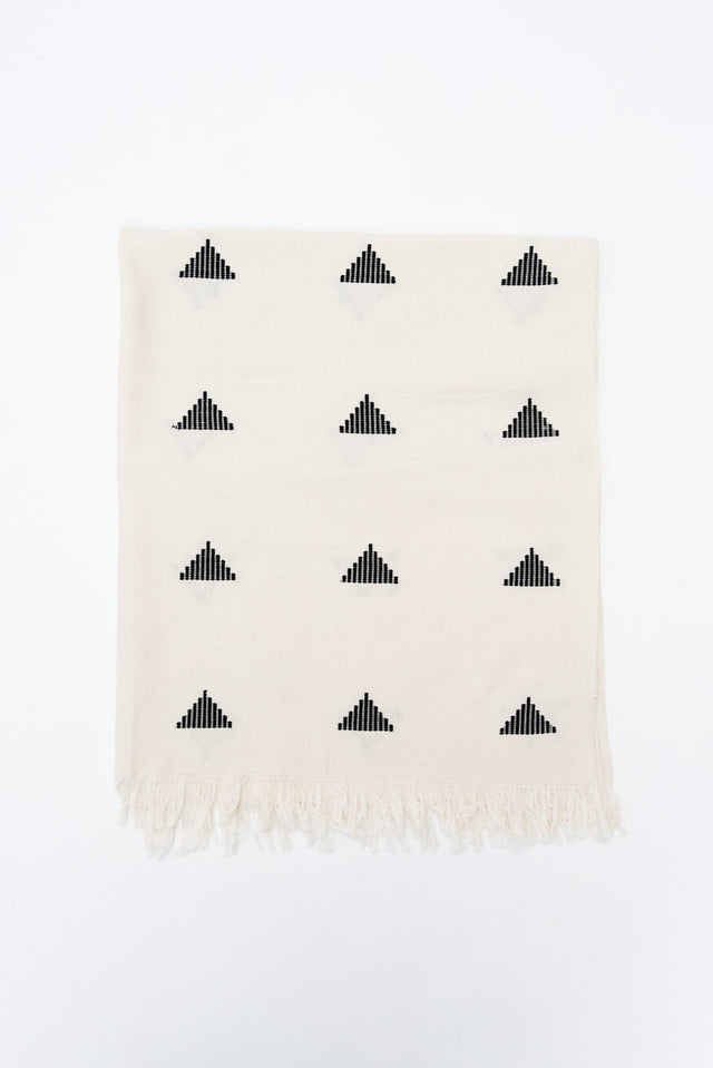 Caroline Z Hurley / Big Sur Black Triangle Blanket