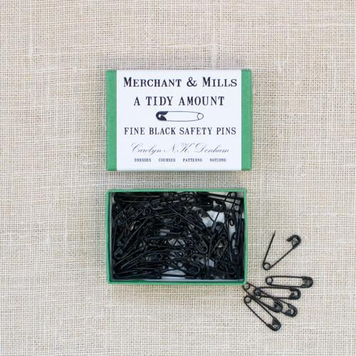 Merchant and Mills Safety Pins in Black