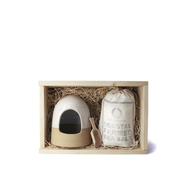 Farmhouse Pottery / Salt & Cellar Gift Set