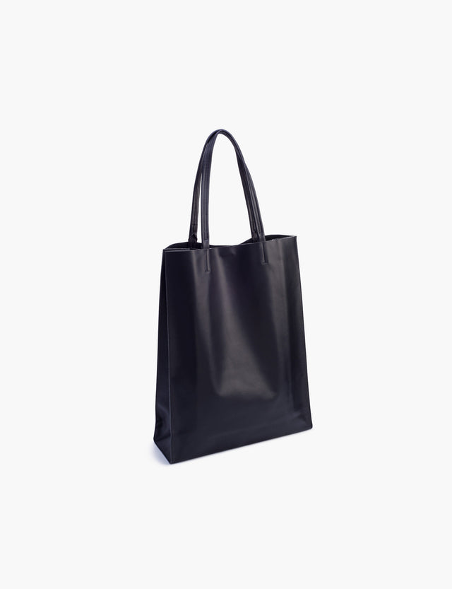 Minor History / Super Market: Vertical Tote in Black