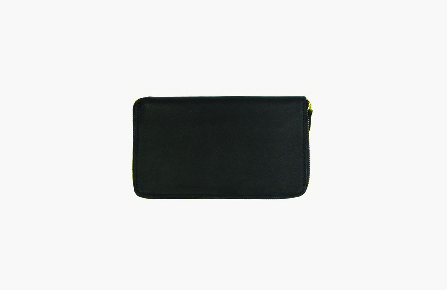 Minor History / Tall Coupe Large Zipper Wallet in Oiled Black