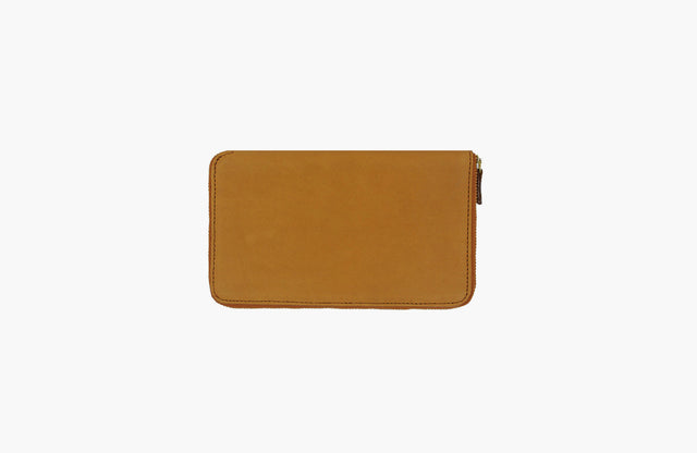 Minor History / Tall Coupe: Large Zipper Wallet in Oiled Saddle
