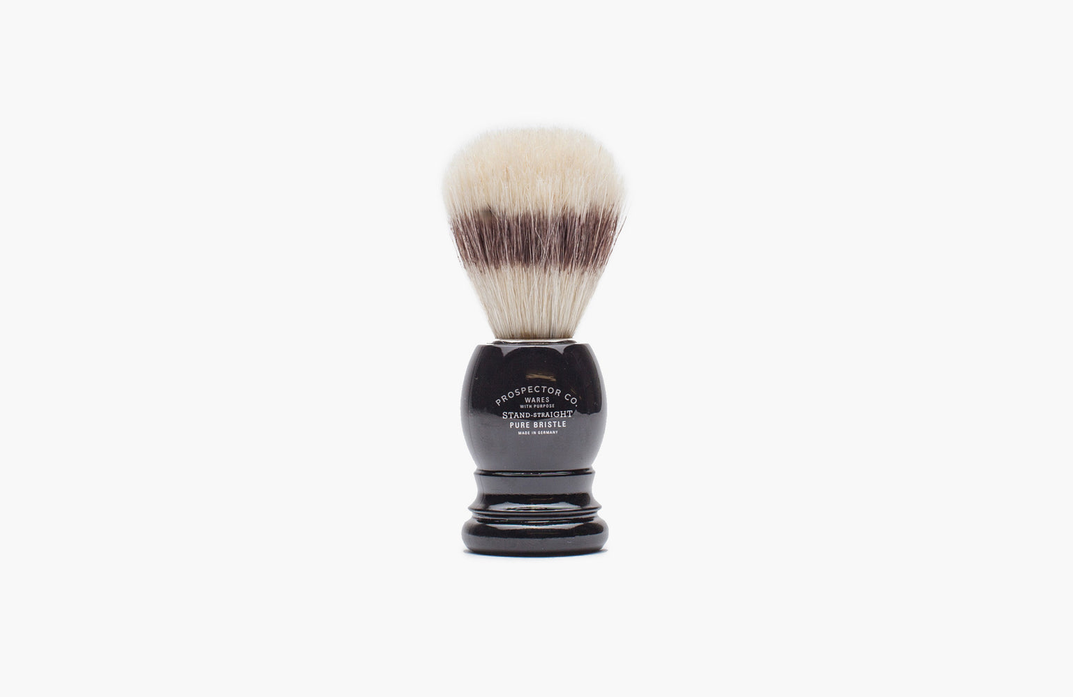 Prospector & Co. / Pure Bristle Shaving Brush in Black