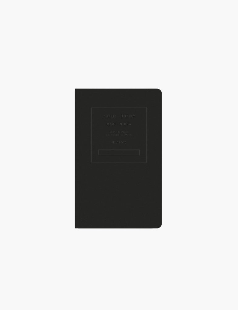 Public Supply / Embossed Notebook in Black