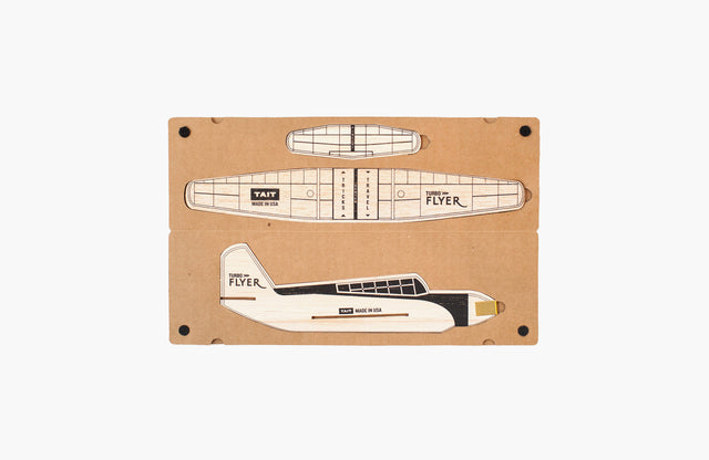Tait Design Co. / Turbo Flyer Balsa Model Airplane Kit (Black)