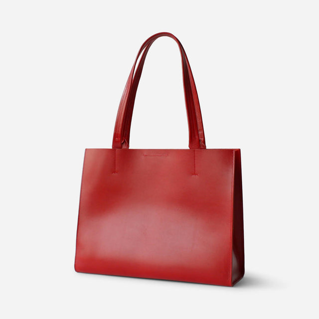 Minor History / News Tote Structured Cherry