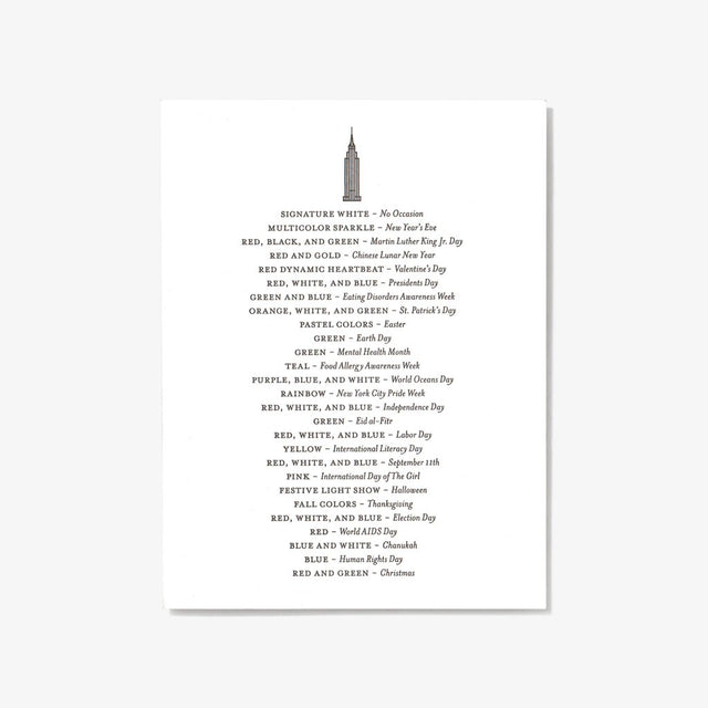 Set Editions / Single Letterpress Card: Empire State